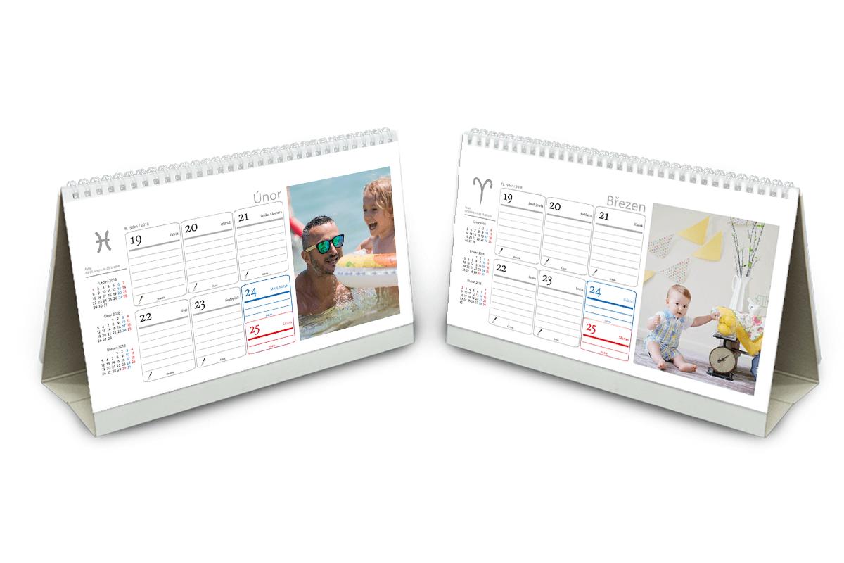 Stolní týdenní fotokalendář